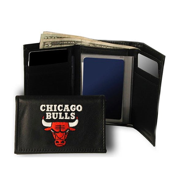 Chicago Bulls Embroidered Trifold Wallet