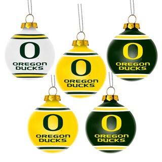 Oregon Ducks NCAA 5 Pack Shatterproof Ball Ornaments