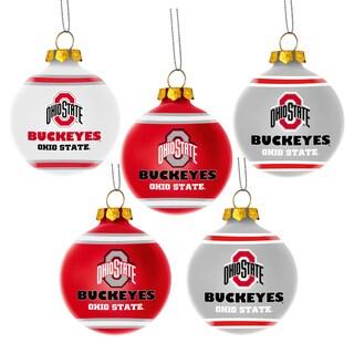 Ohio State Buckeyes NCAA 5 Shatterproof Ball Ornaments