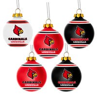 Louisville Cardinals NCAA 5 Shatterproof Ball Ornaments