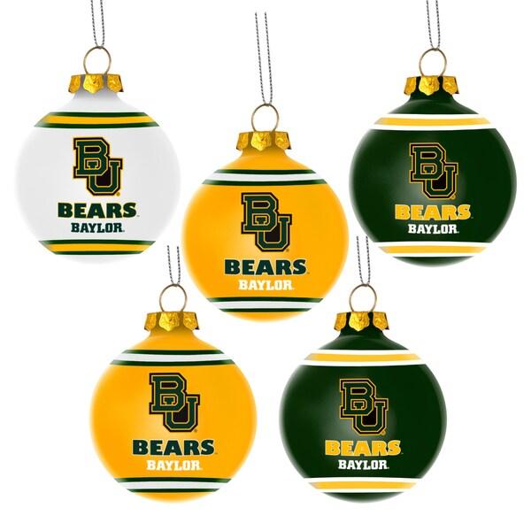 Baylor Bears NCAA 5 Shatterproof Ball Ornaments