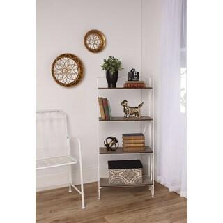 Thornberry Rustic Wood and Metal Modern Bookshelf
