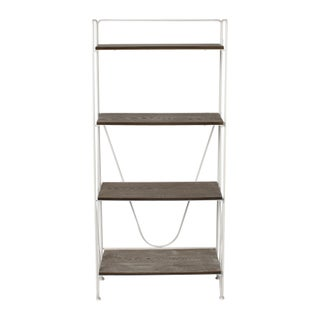 Thornberry Rustic Wood and Metal Modern Bookshelf (2 options available)