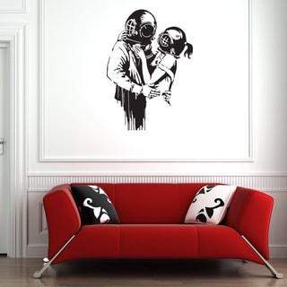 Banksy 'Deep Love' wall decal, sticker, mural, vinyl art home decor