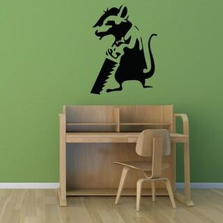 Banksy 'Journeyman Rat' Vinyl Wall Art Decal