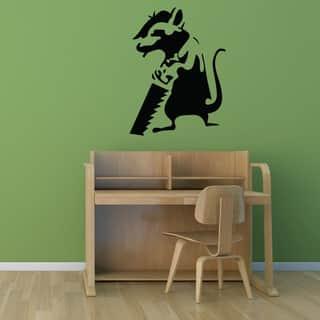 Banksy 'Journeyman Rat' Vinyl Wall Art Decal https://ak1.ostkcdn.com/images/products/12834265/P19600393.jpg?impolicy=medium