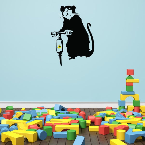 Jackhammer Rat Solid-colored Vinyl Wall Decal