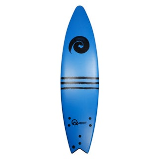 Quest Unisex Blue Polyester and Plastic 84-inch Performance Soft-top Surfboard