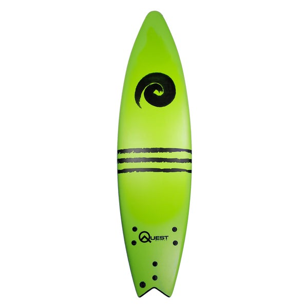 Quest Neon Green Plastic/Polyester 84-inch Performance Soft Top Surfboard