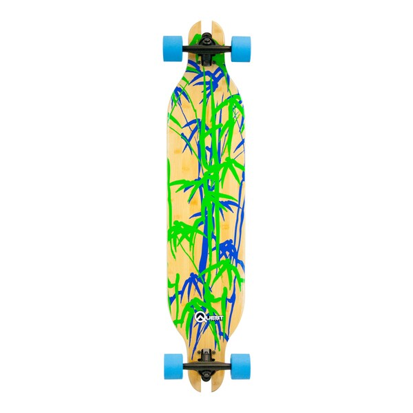 Quest Bamboo Bomber 41-inch Downhill-style Slot-through Longboard Skateboard