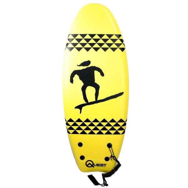 Quest Yellow 47-inch Hybrid Twin Fin Body Board