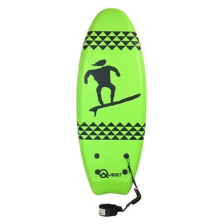 Quest Hybrid Green Polypropylene 47-inch Twin Fin Body Board