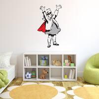 Banksy 'Super Girl' Vinyl Wall Art