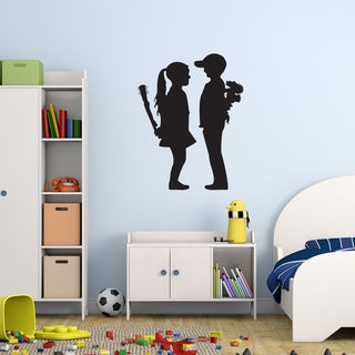 Style and Apply 'Boy Meet Girl' Banksy Vinyl Wall Decal (More options available)