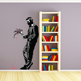 Banksy 'Man Waiting His Date' wall decal, sticker, mural vinyl art home decor
