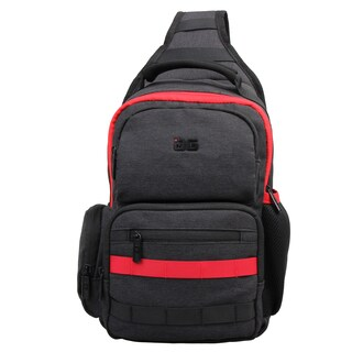 AfterGen 'Adam' Black Polyester Crossbody Sling Backpack