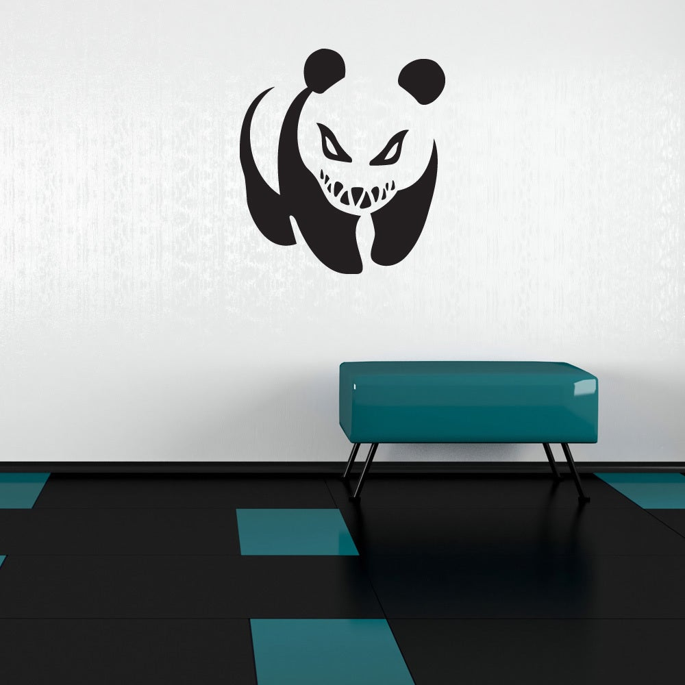 Style Apply Crazy Panda Vinyl Banksy Mural Art Home Decor Wall Decal Overstock 12834302