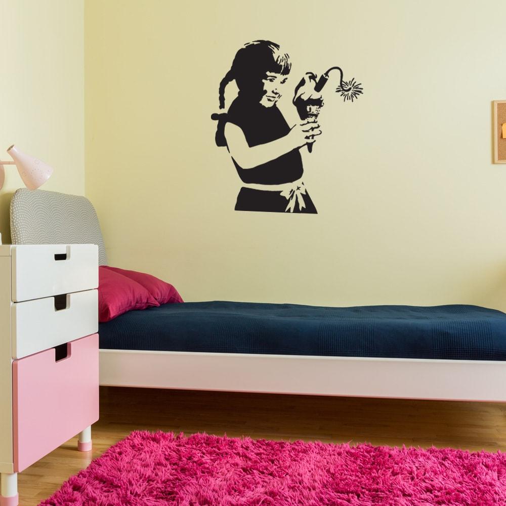 Ice Cream Bomb Solid-colored Vinyl Wall Art | eBay