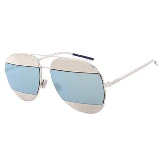 Dior Split 1 Sunglasses 0103J Gunmetal Frame Blue Lens