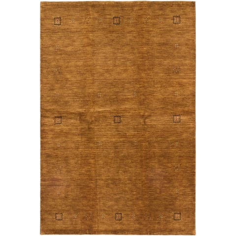 Hand-knotted Kashkuli Gabbeh Brown Wool Rug