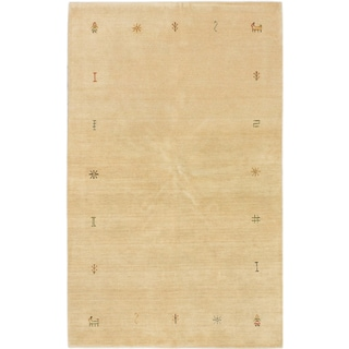 ecarpetgallery Hand-Knotted Kashkuli Gabbeh Blue Wool Rug (4'10 x 7'10)