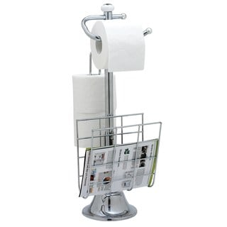Chrome-plated Steel Toilet Paper and Magazine Holder
