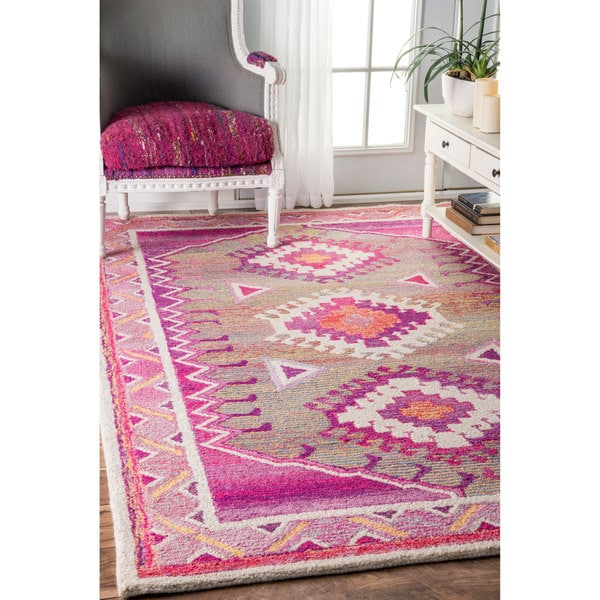 The Curated Nomad Noriega Bohemian Handmade Pink Area Rug (4u0026#x27; ...