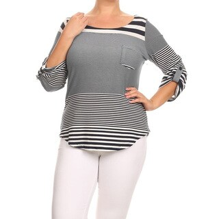 Women's Plus-size Striped Tunic