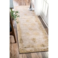 Maison Rouge Tabrizi Handmade Distressed Abstract Vintage Sand Runner Rug - 2'6 x 12'