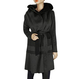 BcbgMaxazria Women's Ellie Charcoal Wool-wrapped Coat|https://ak1.ostkcdn.com/images/products/12835140/P19600983.jpg?impolicy=medium