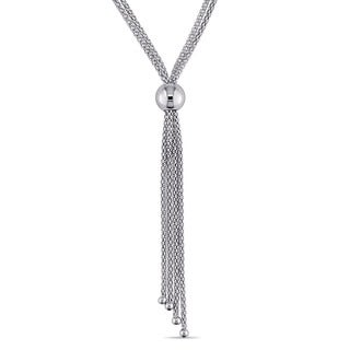 Miadora Tassel Necklace in Italian Sterling Silver