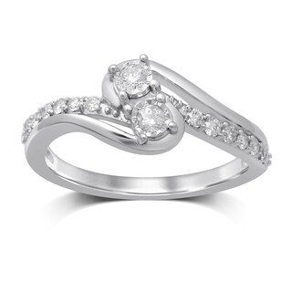 Unending Love 10K White Gold Diamond Ring