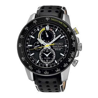 Seiko Men's SSC361P1 Sportura Black Watch