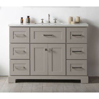 Legion Furniture Warm Grey 48-inch Single Bathroom Vanity