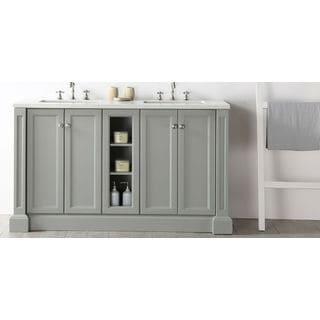 Legion Furniture Quartz Top Cool Grey 60-inch Double Bathroom Vanity