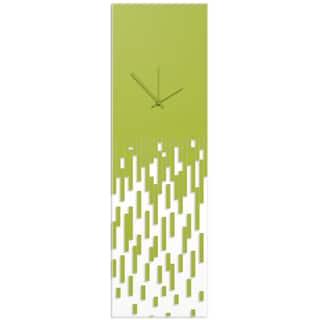 Adam Schwoeppe 'Green Pixelated Clock' Surreal Wall Clock on Acrylic