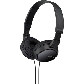 Sony ZX110 Over-Ear Dynamic Stereo Headphones (Black)