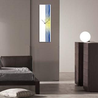 Adam Schwoeppe 'Starlight Triple Stripe Clock' Large Modern Clock on Acrylic