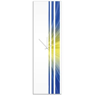 Adam Schwoeppe 'Starlight Triple Stripe Clock' Large Modern Clock on Acrylic