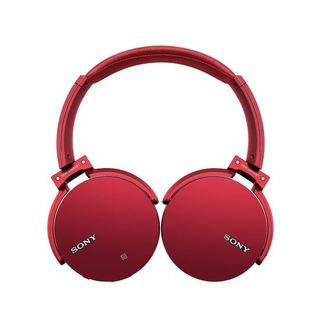Sony MDRXB950BT/R Extra Bass Bluetooth Headphones, Red