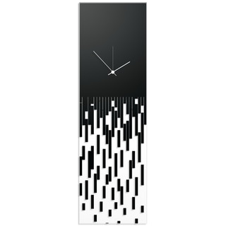 Adam Schwoeppe 'Black Pixelated Clock' Surreal Wall Clock on Acrylic