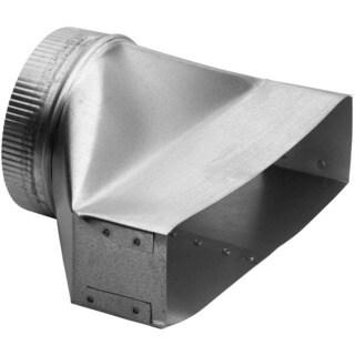 Broan Silver 30-gauge Galvanized Steel Vent Hood Duct Transition