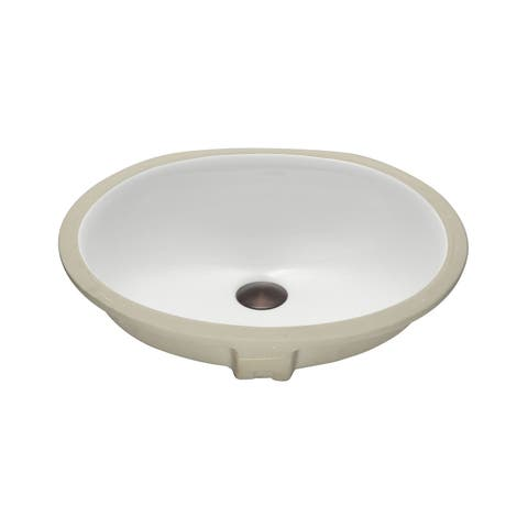 KBF & MORE Vitreous China Clay 18-inch x 15-inch Bathroom Sink