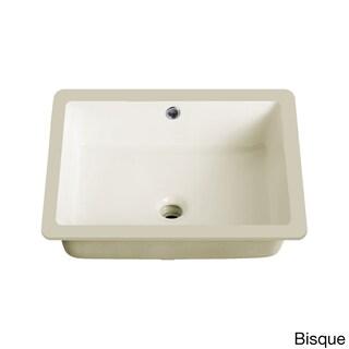 Lenova Vitreous China 20-inch x 16-inch Rectangle Undermount Bathroom Sink - 19.5x15.5 (2 options available)