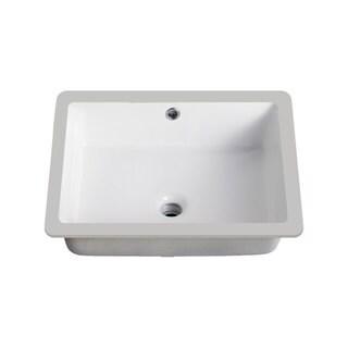 Lenova Vitreous China 20-inch x 16-inch Rectangle Undermount Bathroom Sink