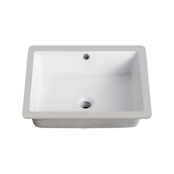Shop lenova vitreous china 20 inch x 16 inch rectangle - 20 inch bathroom vanity and sink ...