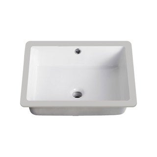 Lenova Vitreous China 20-inch x 16-inch Rectangle Undermount Bathroom Sink