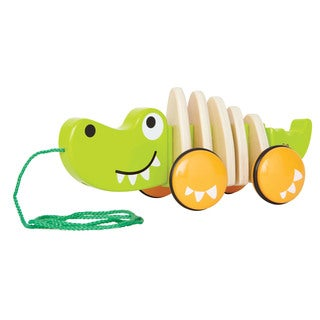 Hape Toys Walk-A-Long Croc Pull Toy