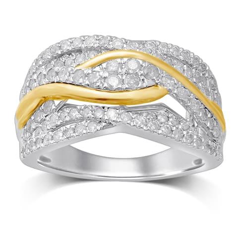 Unending Love 10K Two-Tone Gold 1ct TWD Diamond Fashion Ring