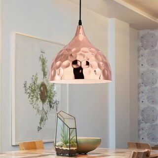 Light Society Metzler Copper-finished Iron Pendant Lamp